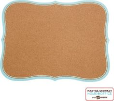 Shop Staples® for Martha Stewart Home Office™ with Avery™ Message Board, Flourish, Blue Border, 15'' X 20''. Enjoy everyday low prices and get everything you need for a home office or business. Staples Rewards® members get free shipping every day