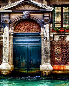 canal city doors, showing signs of previous floods. beautiful textures here.                                                                                                                                                      More