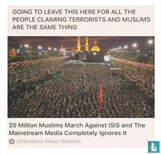 20 million Muslims march against ISIS and the mainstream media completely ignores it Cultura General, Faith In Humanity Restored, All That Matters, Equal Rights, The Victim, Social Justice, Change The World, Equality, Just In Case