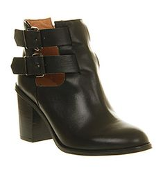 Office Understanding Black Leather - Ankle Boots