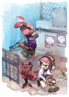 Sneaky Sneaky pink inklings, beacon