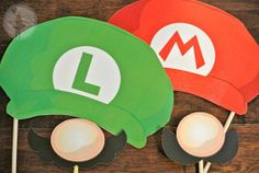 super mario photo booth | Super Mario Brothers Inspired Photo Booth Props by craftybouquets, $12 ...
