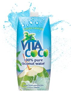 Vita Coco Coconut Water is an all-natural, super-hydrating, nutrient-packed, potassium-stacked Excellent after a good work out! Get Healthy, Healthy Eating, Healthy Recipes, Fruit Lollies, Natural Electrolytes, Pure Coconut Water, Health And Wellness, Health Fitness, The Fresh