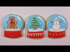 How to Decorate Snow Globe Cookies - Not sure I have the patience but they're so cute!