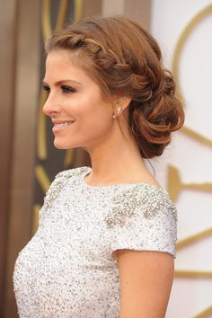 Got a special event to go to? Show of your neck and shoulders while impressing all your family and friends with a cool braided updo like this one worn by Maria Menounos. - GoodHousekeeping.com