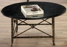 "Elliot Coffee Table--LOVE THIS!!!  19.5"" x 42""  iron/granite 525/420"