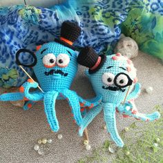 Crochet Amigurumi monsieur OCTOPUS Pattern
