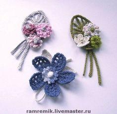 Crochet Bookmark Pattern, Crochet Jewelry Patterns, Crochet Hair Accessories, Crochet Flower Patterns, Crochet Motif, Crochet Small Flower, Crochet Daisy, Knitted Flowers, Fabric Flowers
