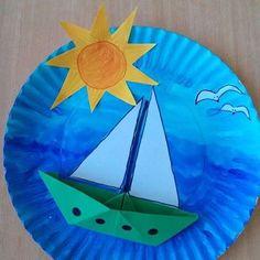 Artes feitas com pratos de papel Vejam quantos animais lindos podemos fazer com pratinhos descartáveis de aniversário, aqueles cr...