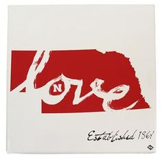 Nebraska Cornhuskers Love Canvas #Huskers #HailVarsity #Huskerhome