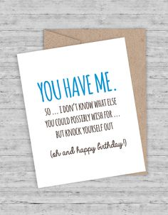 You'll say it with snarky charm when you say it with a card from Flair & Paper!