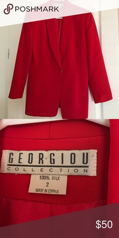 Red jacket new New red jacket never use perfect for holidays georgiou collection Jackets & Coats Blazers