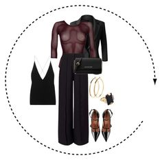 Work Risk by nicoleshautediary on Polyvore featuring polyvore, fashion, style, LE3NO, Miss Selfridge, Wolford, Dion Lee, RED Valentino, Michael Kors, Marni, Pieces and clothing