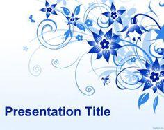 Fondo de Plantilla Power Point con flores azules es un elegante y atractivo fondo de decoración de presentaciones y diapositivas de Power Point que puede descargar para uso general como fondo abstracto de diapositivas
