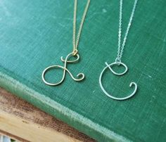 Wear one initial or two. Your name will never go out of style!