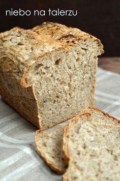 niebo na talerzu: Łatwy chleb na zakwasie. Przepis na domowy chleb. Chleb z cebulą i słonecznikiem