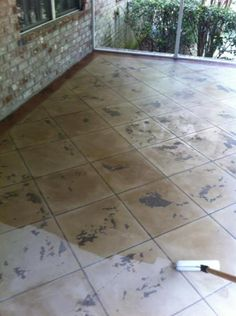 Custom Stained Concrete Tile Design Lillian, Alabama - Foxcrete Designs.  Repin & Click For More Info or Quote @ Your Home / Business.