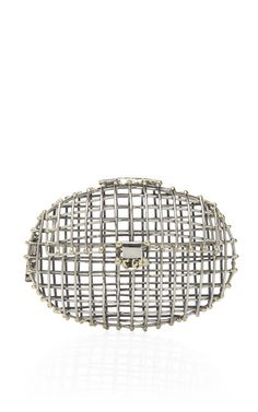 Oval Open Cage Clutch by Anndra Neen Now Available on Moda Operandi