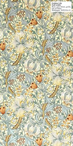 Again a great combination of blue and yellow!  William Morris Fabric: