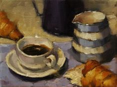 Oil on Linen Reading Eggs, Stop The Rain, Cornishware, Medicine Bottles, Coffee Time, Paintings, Oil, Fine Art, Paint