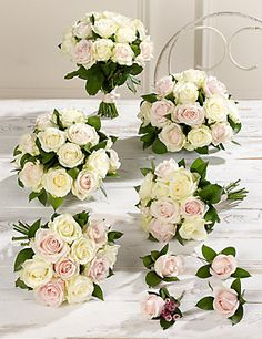 Who'd of thought Marks and Spencer's do wedding bouquets and they're really lovely -  I think I like these best.