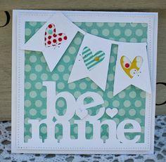 Cute Valentine card -- love that darling banner.