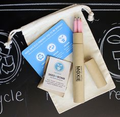 Pink Eco Friendly Recycled Pencil Set