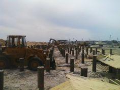 New  Boardwalk coming along in Seaside Heights, NJ