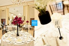 Love the black Chiavari Chairs in the Crystal Ballroom at the DuPont Country Club!    Photo Credt: Baltazar Photography  www.chrisbaltazar.com    WWW.DuPontCountryClub.com