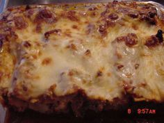 Noodleless Lasagna Recipe - Pepperoni in place of noodles.