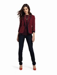 Great look for Casual Friday. Chic.