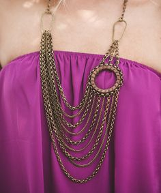 Look what I found on #zulily! Goldtone Disc Multistrand Necklace by Three Bird Nest #zulilyfinds
