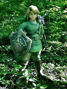 Life-Size Papercraft Link From Legend Of Zelda