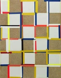 Joachim Grommek  TILT II, 2005  Acryl, Öl, Grundierung / Spanplatte  90 x 70 cm via .fath-contemporary.
