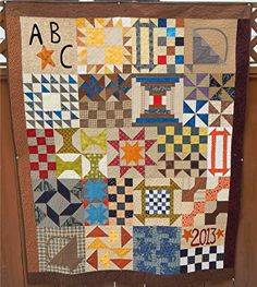 2013: Sampler Quilt BOM from Joined at the Hip Chicks