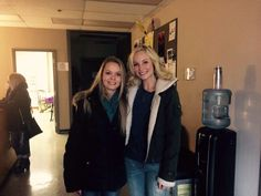 Candice with a fan on the TVD set 27/1/15
