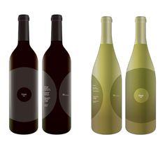 A proposed design for Oriel Wine, designed by Julia Hoffmann of Pentagram.