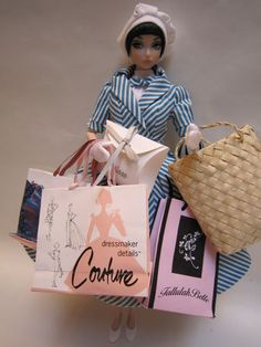 Rare Mixed LOT OF Barbie Doll Shopping Bags FIT Poppy Nuface FR Misaki Victoire   eBay