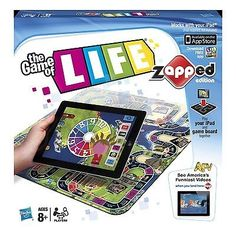 nice The Game of Life Zapped Edition Classic Family Board Game - For Sale