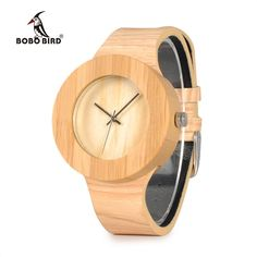 BOBO BIRD WH11 Brand Design Bamboo Wooden Watches for Women Men Wood Dial Quartz Watch Leather Grain Band in Wood Box Gift OEM