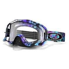 Oakley Crowbar MX Purple/Blue One Icon Goggles with Clear Lens $65