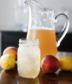 southern shandy  Ingredients 3 12 oz bottles of ice cold beer (not dark) 4 cups of lemonade chilled 1/2 cup peach brandy Directions Combine all ingredients and stir. Pour into glasses filled with ice.