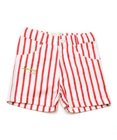 Red And White Striped Shorts Mens