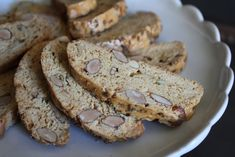 Anise and Almond Biscotti Dessert Recipes, Desserts, Cupcakes, Biscotti, Baked Goods, Almond, Veggies, Cooking Recipes, Veggie Burgers