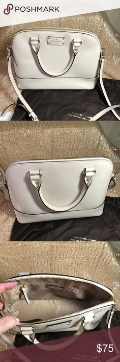 🌸Kate Spade New York Leather Satchel 🌸🌺 🌸Kate Spade Leather Satchel.   Cross body strap included.   Gently worn.      🌸Condition: Good   🌺 Bundling recommended to save on shipping & receive private discount❣️  🌸 REASONABLE offers encouraged  🌺 Fast shipping Mon-Sat  🌸 Questions?  Please leave comments below   🎄🎁Patti 😘/ AshanaFashions Boutique💖💝 kate spade Bags Satchels