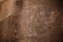 Rock carving of an elephant at Tadrart Acacus
