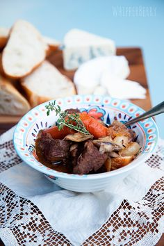 Beef Bourguinon... food for the heart! YUM! #recipes whipperberry.com