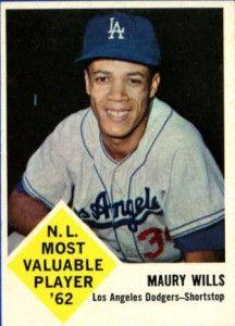 Maury Wills 1963 Fleer