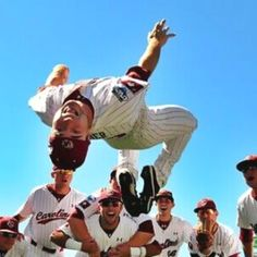 Flippin out at The CWS! #Gamecock Baseball Traditions!