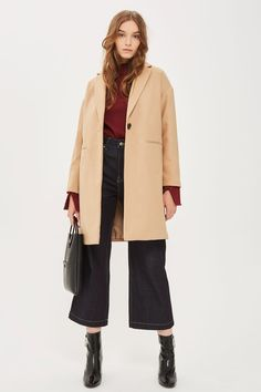Millie Relaxed Coat - Topshop